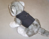 Dog/Cat Vest With Leash Ring -- Black Made In The USA