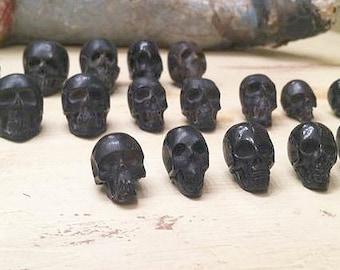 Awesome black handcarved waterbuffalo water buffalo skull bead