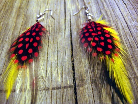 Sexy 5 dollar feather earrings