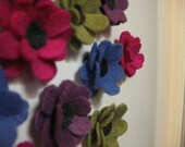set of four Felt Flower Magnets