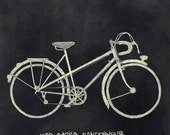 1950 Barra Randonneur Bike PRINT
