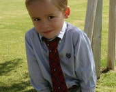 Boys neck tie INSTANT DOWNLOAD, PDF sewing pattern ebook 6 months - size 7