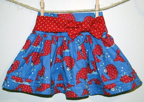 Girls skirt pattern, PDF sewing pattern ebook, Emery skirt, INSTANT DOWNLOAD, size 12 months - size 8