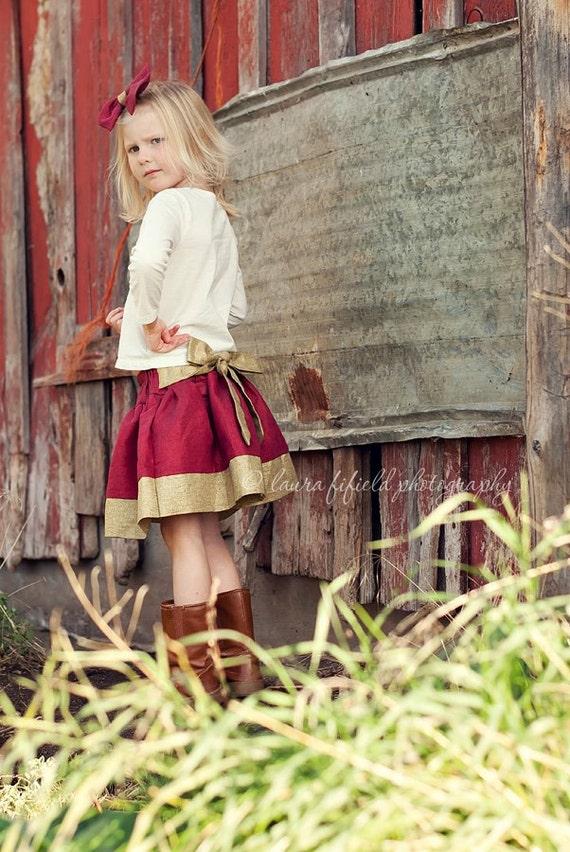 Girls twirl skirt pattern, PDF sewing patten ebook, easy, Jezebel skirt, INSTANT DOWNLOAD, size 12 months - size 8