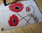 Poppy and Pod art rug, Arts and Crafts Style
