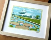 Conservatory Giclee Print with Lily Pads, St. Paul, MN