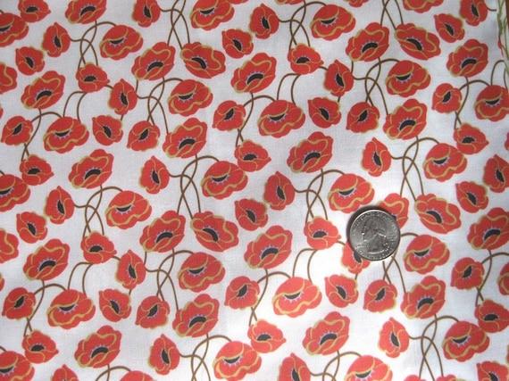 Poppy Fabric, Fat Quarter
