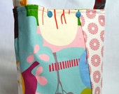 Little Girls Purse - Hoot with PInk Circles - RESERVED for Jamie