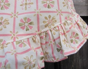 Pink and Green Ruffled Cotton Dress or Nightgown