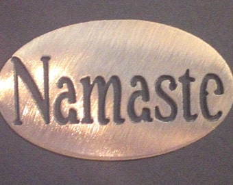 NAMASTE MAGNET STRONG- Yoga love and light within inspriational holds 5lbs  Fridge Locker Steel door Decorative useful small gift item