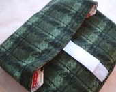 Green plaid print reuseable lunch wrap