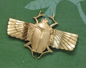 X Large egyptian winged SCARAB beetle embellishment pendant  68mm x 45mm (FF21). Please read description