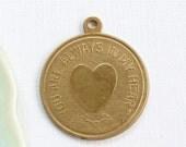 3 You Are Always In My Heart jewelry token pendant 23mm x 20mm (ST11). Please read description