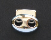 1 silver spring jewelry CLASP. Fits 3mm leather cord or smaller.