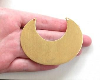 2 crescent jewelry pendant necklace bibs. 76mm x 57mm (ST203b) Please read description