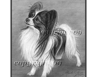 Papillon Dog Fine Art Note Cards - FOUR Pack