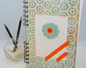 Weekly Planner Large - Orange Button in a Flower