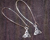 Pewter Celtic Knot with Silver Plated Ear Wire Earrings 124732E