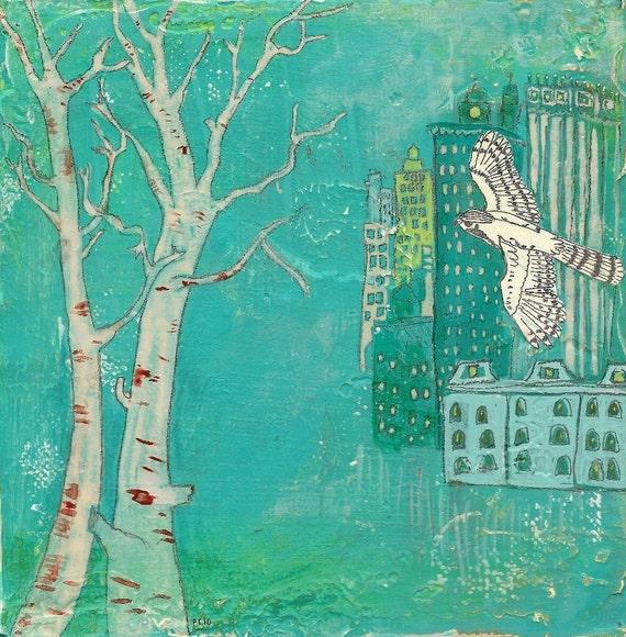 White Hawk Fine Art Print