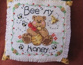 Pincushion - Ornament hanger - Bee my Honey Bear