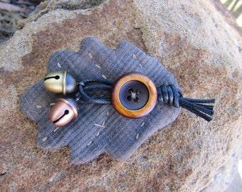 Primitive Acorn Bell Brooch