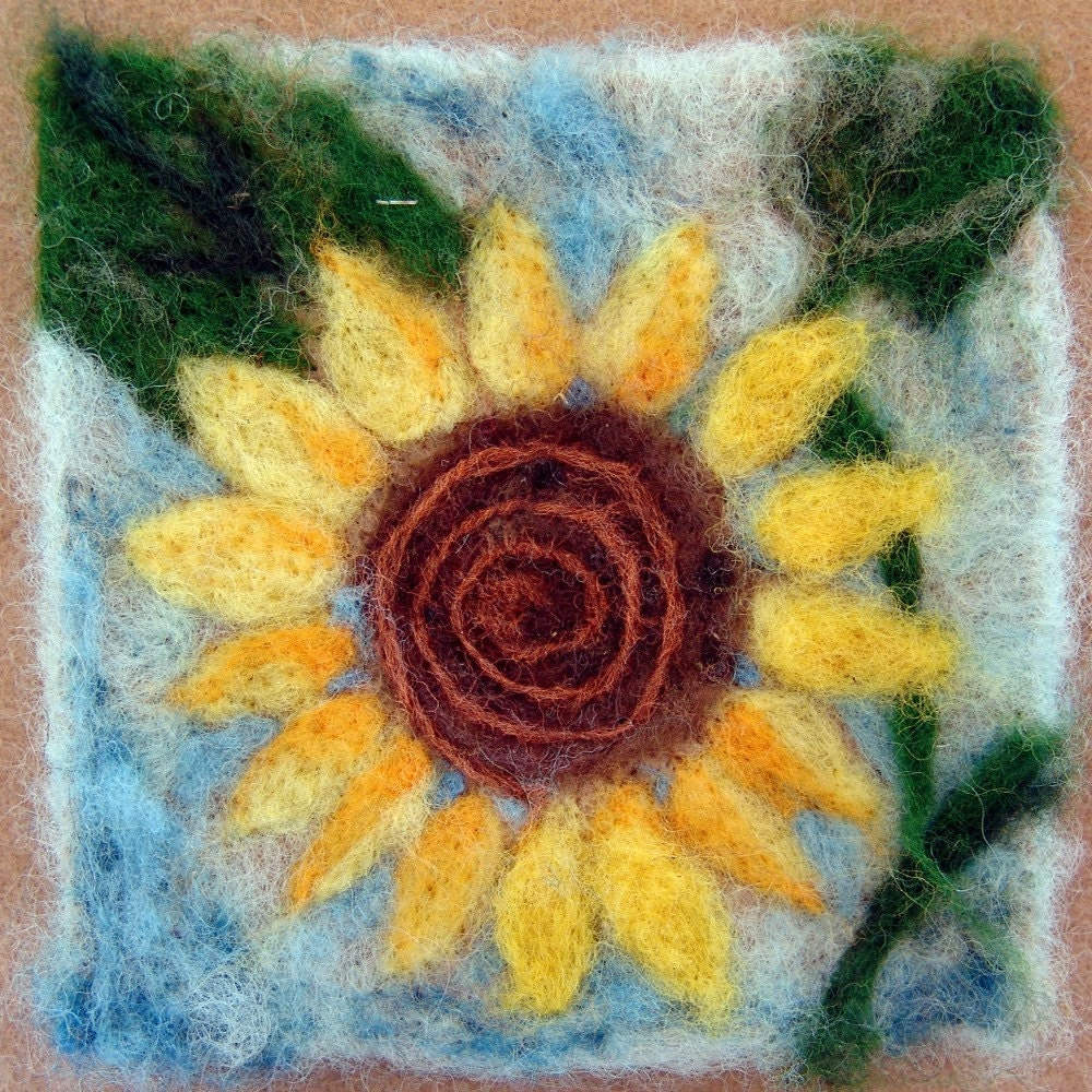 026 Sunflower Thyme Tile Needle Felting Pattern