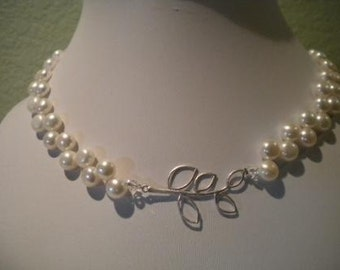 Pearl necklace, Bridal necklace, Freshwater Pearl Necklace, Molly, PN057