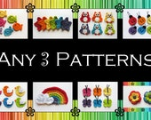 Your Choice of 3 Crochet Patterns (PDF)