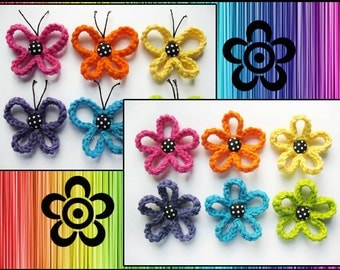PATTERN PACK of the 2 Loopy Patterns-Butterfly and Flower