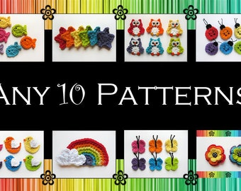 Your Choice of 10 Crochet Patterns (PDF)