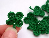 Lucky Clover Crochet Shamrock Lot