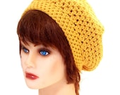 The Bad Hair Day Beret in Marigold