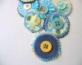 Blue and Yellow Roundies
