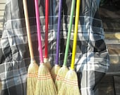 Child Broom Choice of Color-Toy Broom that works well- Kid's size Handmade Corn Brooms- Fun toy     toy