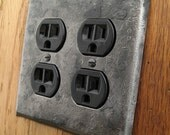 Switchplate - Fire Cooked Double Plug/Outlet Cover Plate
