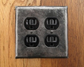 Switchplate - Fire Cooked Double Plug/Outlet Wall Plate