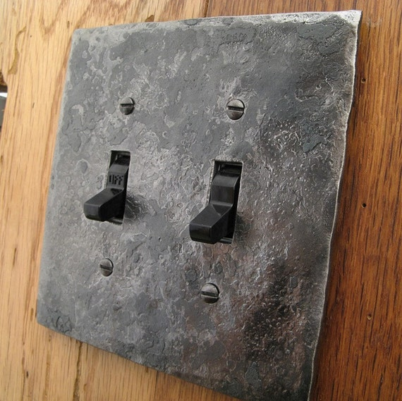 Cover Plate - Hammer Textured Double Switch/Toggle Wall Plate