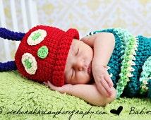Newborn Caterpillar Costume Photo Prop, Baby Halloween Costume