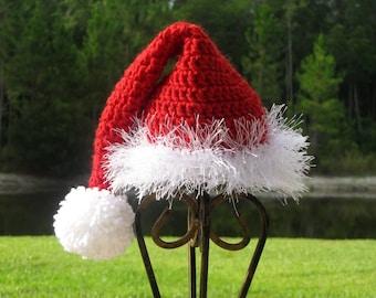 Santa Claus Hat, 4T-Preteen Santa Hat Holiday Photo Prop