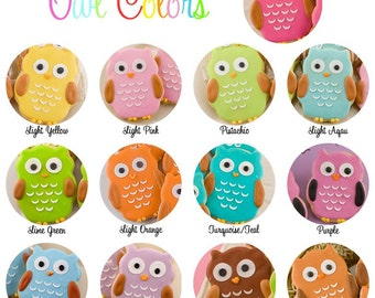 Owl Cookies - 48 Decorated Sugar Cookie Favors