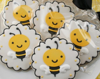 Bumble Bee Sugar Cookie Favors (12 cookies, bagged & bowed)