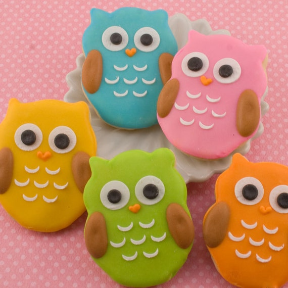 Owl Cookies, MINI SIZE owls - 4 dozen