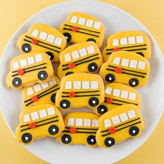 Adorable Little Bus Cookies - 1 dozen