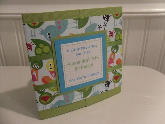 A Little Birdie Customizable Birthday Invitation