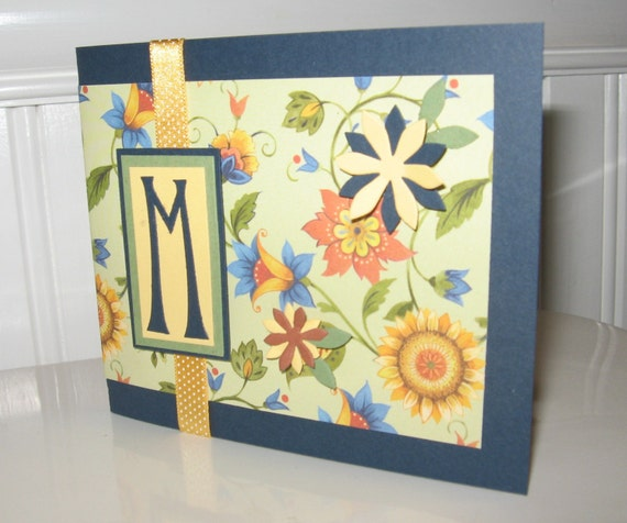Madeline Initial Note Card - M