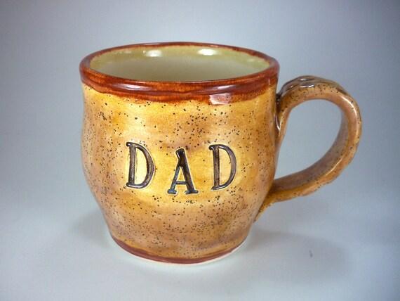 DAD Mug, Coffee Cup, Hand Made Earthenware Pottery, Ready to Ship