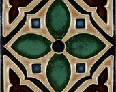 Green Hispano - 4 Square Flower - Made to Order
