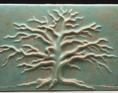 Carved Winter Oak Tree - Made to Order