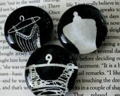 dress form marble magnets - set of 3