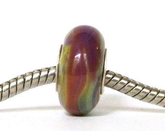 Big Hole Lampwork Glass Bead fits ALL BHB European Charm Bracelets- Spanish Dance BHB